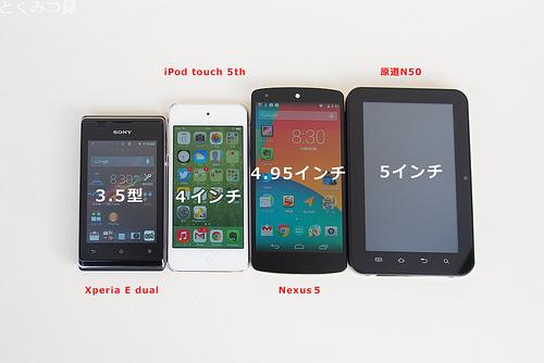 Nexus 5 とライバルたち