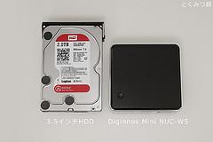 HDDとサイズ比較