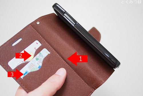 Nexus5用ケース ~カードも収納できるタイプ
