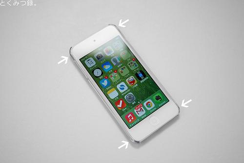 透明ケースと干渉しない iPod touch 5世代用強化ガラスフィルム ラウンド(角丸)タイプ 硬度9H 日本語説明書付き Glass Film【クロスフォレスト「CF-GHIPT5」】