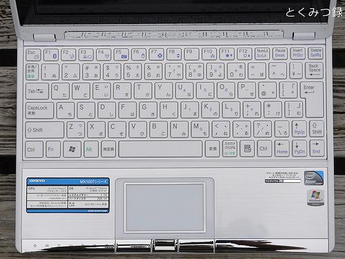 ONKYO MX1007A4 キーボード面