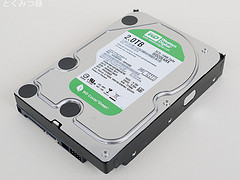 HDD(WD20EARX)、容量:2TB
