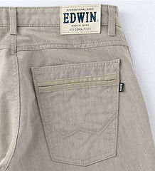 EDWIN 403 クール・フレックス トラウザージーンズ 白樺レーヨン