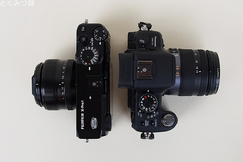 FUJIFILM X-Pro 1 LUMIX DMC-G1 との比較