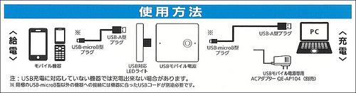 Panasonic USBモバイル電源パック リチウムイオン 5,400mAh 白 QE-QL201