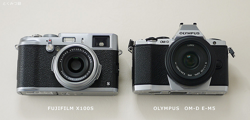 FUJIFILM X100S と OM-D E-M5