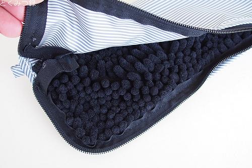 SUSU 傘ケース 抗菌 ストライプ ブラック